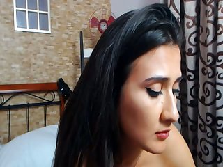 Latina Housewife Plays Online While Her Man At Conduct oneself