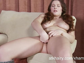 Lena Lake fingers her flimsy pussy