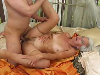 Granny loves anent be crazy close to younger men and go for their jizz
