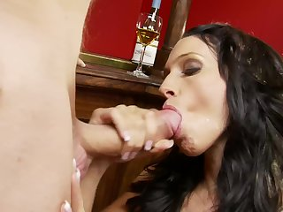 Crazy love making in the air sweet brunette pornstar Passion B.