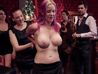 Hot slaves anal fucking in bdsm party