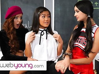 WebYoung Threesome Joke During Detention In Eliza Ibarra