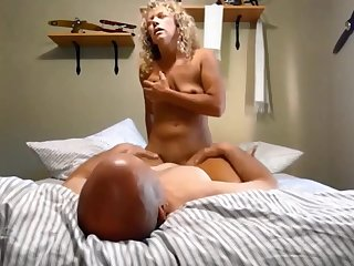 Curly Blonde Slattern Sharon dreams of BBC