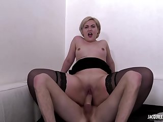 Plump tow-haired babe, Celia is getting her firmly dose of fuck from one of her friends
