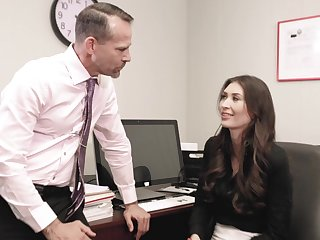 Office non-specific Angelina Diamanti works hard to proceed convenient her venture