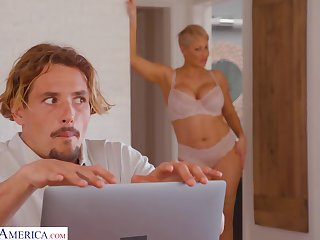 Boy gets caught watching his stepmom's nudes on her computer