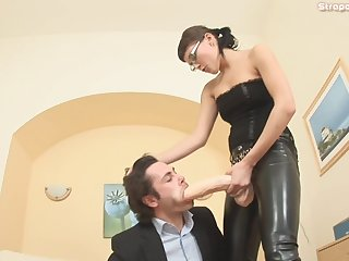 Russian Mistress Marianna Makes An Employee To Earn His Bonus