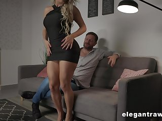 Zealous and pretty Brazilian busty blonde hustler Mia Linz loves hard anal