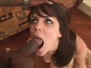Hot bore model Bobbi Starr fucked wide of a massive blackguardly dick from behind