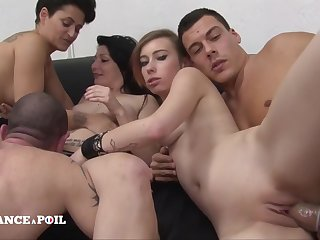 La France A Poil - Three Hotties Gets Hard Banged All round A