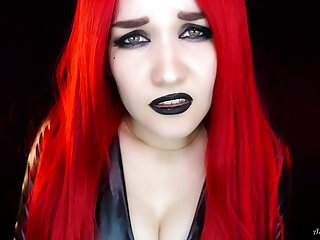 ASMR only with redhead devil babe