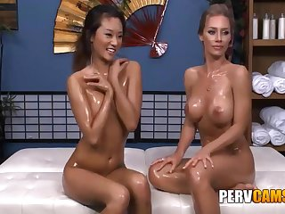 Nicole Added to Alina Lesbian Friends Oiled Body Playing - Nicole Aniston Added to Alina Li