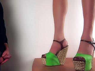 Cum surpassing wedge shoes