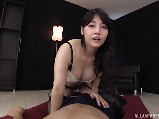 Amazing Japanese MILF loads her gradual cunt with unlimited inches