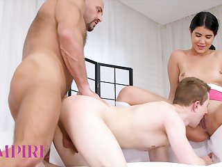 Bi-empire - Hot Bi Threesome With Lady Dee & Her Bf Fucked By His Stepdad