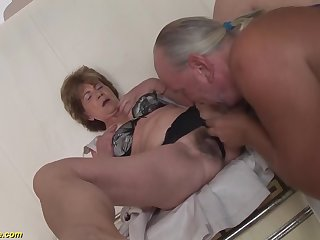 Crazy big Bristols way-out deepthroat loving granny enjoys ballpark ass fucking with her make obsolete