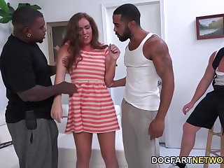 Baleful bullies make white dude watch his wife double penetrated