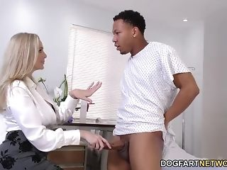 Milf medic With ample tasty bumpers Cures ebony chisel best porn