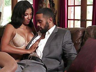 Black man's cock fits her wet cunt just fine