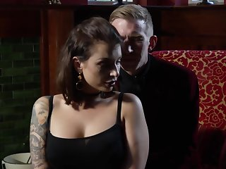 Relaxing massage increased by hardcore pussy pounding for tattooed bitch Danny D