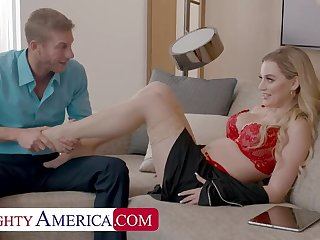 NAUGHTY AMERICA Broad in the beam Tit Fair-haired MILF Blake  s Titfuck