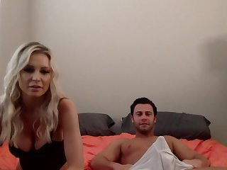Having literal her big boobs and blowjob skills blonde is fucked doggy