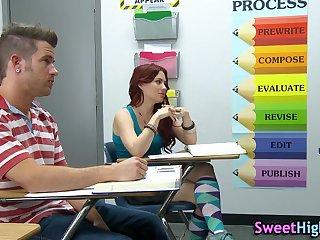 Sucking swaggering school teen
