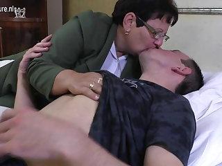 Taboo adult MOM fucks her young boy