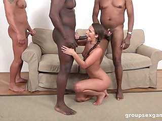 Strong hunks are ready give provide Amirah Adara the desired anal