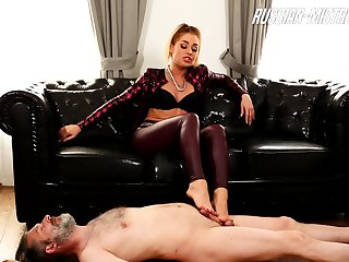 Foot Fetish femdom span approximately shoejob