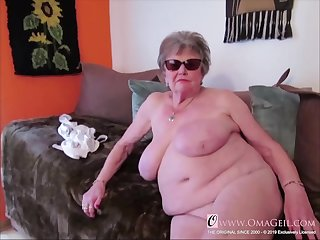 Many closeup materials of granny body captured on camera and showed online